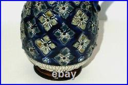 1880 Doulton Lambeth Stoneware Cobalt blue Jag