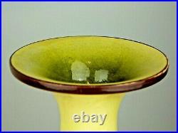 A Large & Striking Doulton Lambeth Wild Yellow Poppy Faience Vase