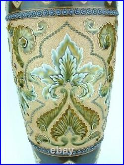 A Monumental Doulton Lambeth Persian Inspired Stoneware Vase Eliza Simmance
