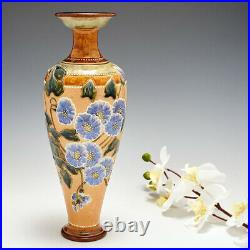 A Royal Doulton Lambeth Stoneware Vase decorated by Florence C Roberts c1905
