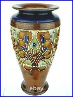 A Striking Royal Doulton Lambeth Art Nouveau Vase by Frank Butler. Circa 1900