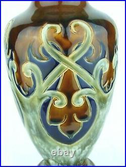 A Stunning Royal Doulton Lambeth Art Nouveau Vase by Frank Butler. Dated 1906. #2