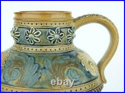 A Very Early Doulton Lambeth Stoneware Jug by Eliza Simmance. Her first year