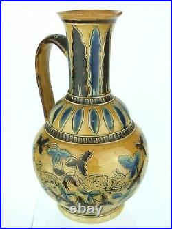 A Very Rare Doulton Lambeth Rabbit decorated Pitcher by Florence Barlow. 1874