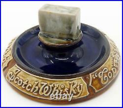 A rare Doulton Lambeth stoneware pottery Commemorative Whisky Advertiser C1920's