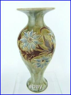 An Exquisite Doulton Lambeth Floral Art Nouveau Vase by Eliza Simmance. C1900