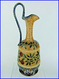 An Exquisite Doulton Lambeth High Handled Jug by Martha Rogers