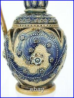 An Outstanding Early Doulton Lambeth Pitcher by Frank Butler. Dated 1874