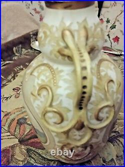 Anique Doulton Lambeth Hannah Barlow Tall Carrara Vase Horses & Cattle Rare