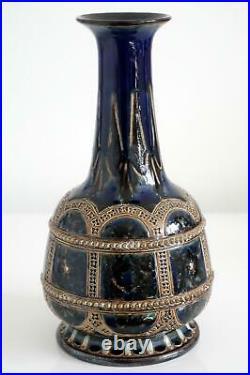 Antique Doulton Lambeth Art pottery Vase By William Parker c. 1879