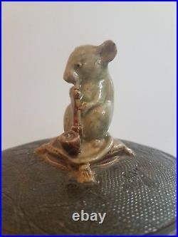 Antique Doulton Lambeth George Tinworth Tobacco Jar c1880