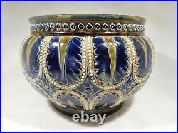 Antique Doulton Lambeth Internally Decorated Stoneware Bowl United Kingdom