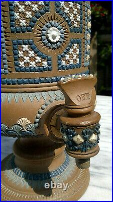 Antique Doulton Lambeth Silicon Stoneware Water Filter Urn 13.5 Tall