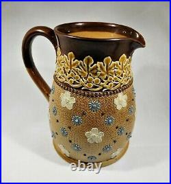 Antique Doulton Lambeth stoneware jug c 1880 United Kingdom