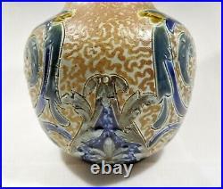 Antique Doulton Lambeth stoneware vase c 1880 United Kingdom