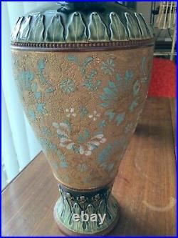 Antique Exquisite Large Pair of Doulton Slaters Patent Vases