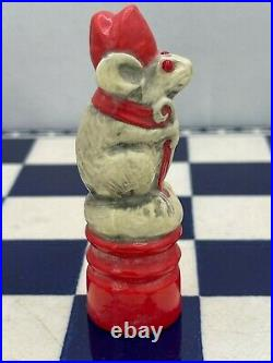 Antique George Tinworth Royal Doulton Mouse Chess Bishop