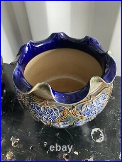 Antique Rare Royal Doulton Lambeth Stoneware Early 1900s Bowl