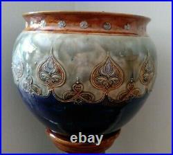 Antique Royal Doulton Stoneware ART NOUVEAU JARDINIERE / VASE & Matching STAND
