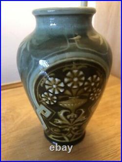 Antique Royal Doulton Vase Lambeth Eliza Simmance Art Nouveau Rare 1883 Signed