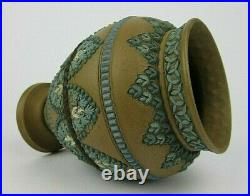 Antique Royal English DOULTON LAMBETH Stoneware Period Silicon Ware 1883 Vase