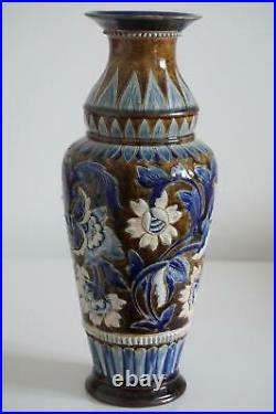 Beautiful Doulton Lambeth Iznik Persian Style Vase Elizabeth M. Small c1880