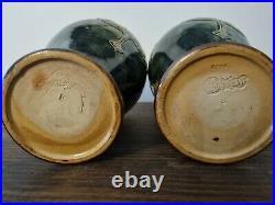 Beautiful pair of Royal Doulton Lily Partington Art Nouveau Vases