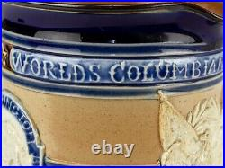 C1893 Doulton Lambeth World Columbian Exposition Jug