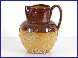 C1900 Doulton Lambeth Large Stoneware Harvest Jug