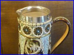 DOULTON LAMBETH Arts & Crafts JUG/PITCHER CELTIC KNOTS 1877-80 ROSINA BROWN 7.5