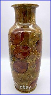 Doulton Autumn Leaves Foliage Ware Vase by Maud Bowden Circa 1925