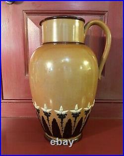 Doulton & Co. Lambeth Arts And Crafts Stoneware Jug Pitcher c. 1877-80
