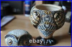 Doulton Lambeth 1883 Owl tobacco jar attributed to Mark Marshall
