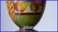 Doulton Lambeth A Euphemia Thatcher, Stoneware Table Oil Lamp, Oranges & Blossom
