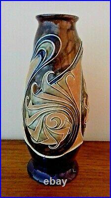 Doulton Lambeth Art Nouveau Stoneware Vase By Frank A Butler