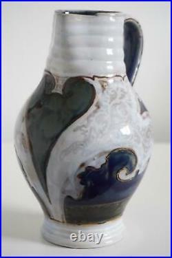Doulton Lambeth Art Pottery Grotesque Face Jug Mark Marshall c. 1880