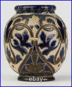 Doulton Lambeth Art Pottery Vase By Elizabeth Small 1880