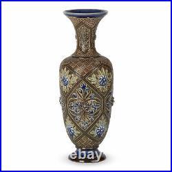 Doulton Lambeth Art Pottery Vase By Frank Butler 1882