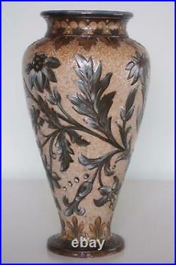 Doulton Lambeth Art Pottery Vase Pate-Sur-Pate Eliza S. Banks c. 1879