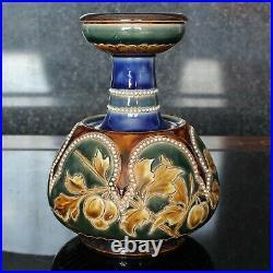 Doulton Lambeth Eliza Simmance Plum Design Posy Vase (11420)
