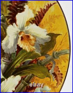 Doulton Lambeth Faience Floral Plaque Florence Lewis 19th C