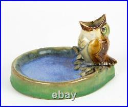 Doulton Lambeth- Feeding Sparrow Bird Chick Open Beak Bibelot Figure Dish -8740