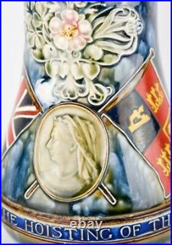Doulton Lambeth Flag of Pretoria Jug of Victoria