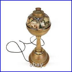 Doulton Lambeth Grotesque Oil Lamp Mark Marshall 1880