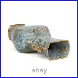 Doulton Lambeth Maqueterie Dragon Handled Vase 19 C