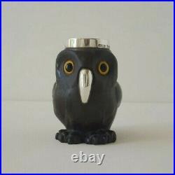 Doulton Lambeth Owl 1894 Silver Saunders & Shepherd Halmark Excellent Condition