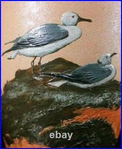 Doulton Lambeth Pate Sur Pate Seagulls Exhibition Vase Florence Lucy Barlow 54cm