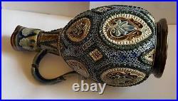 Doulton Lambeth Stoneware Ewer C1880 William Parker /Mary Ann Thompson ex Cond