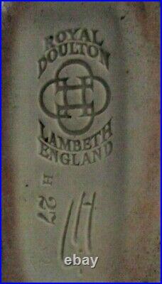 Doulton Lambeth Twin Handled Vase Cherubs Leslie Harradine Perfect
