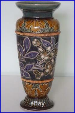 Doulton Lambeth Vase Pate-Sur-Pate Flowers Elizabeth M. Small c. 1883